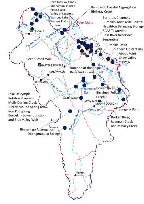 Figure 16 - Directory of Important Wetlands in BDT Region