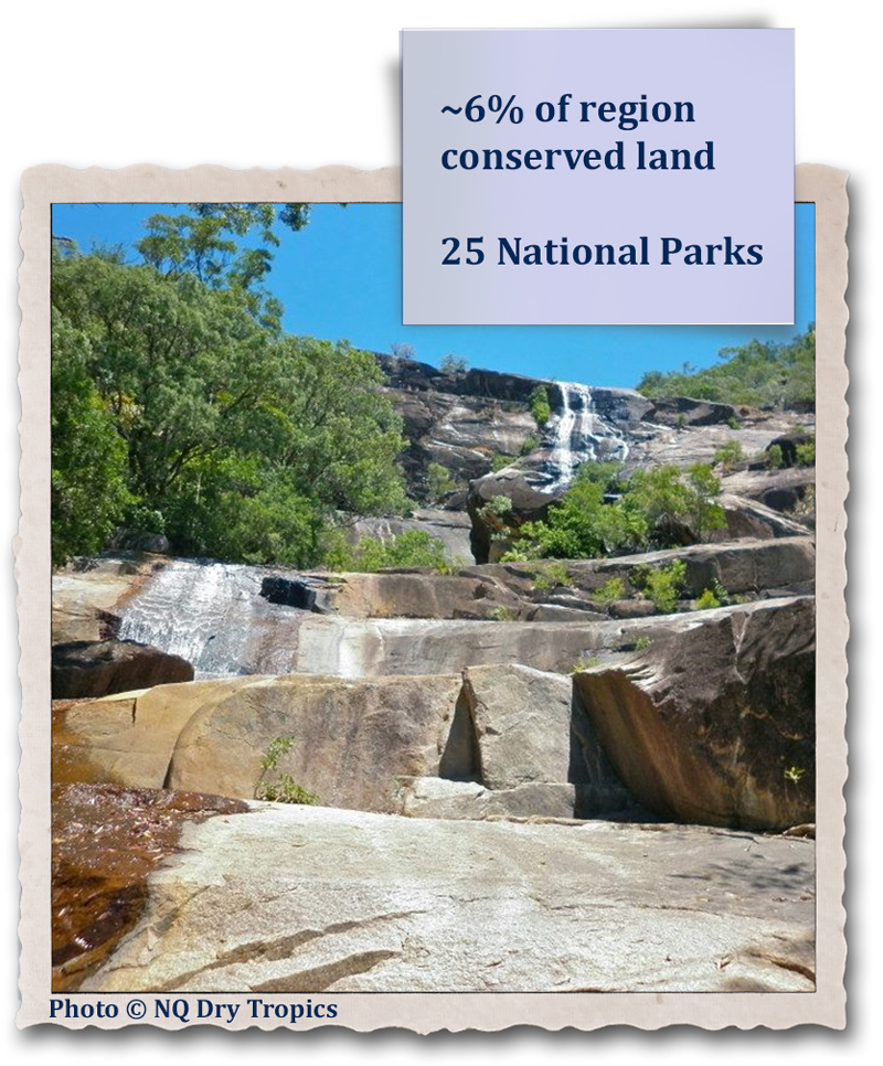 ~6% of region conserved land - 25 National Parks