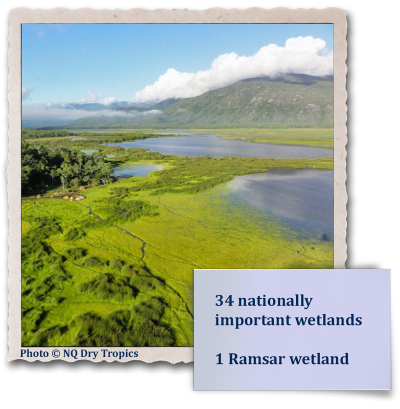 34 nationally important wetlands - 1 Ramsar wetland